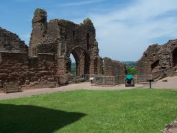 Goodrich Castle near Ross-on-Wye