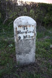 2 Miles to Hereford Mile Stone (A49)