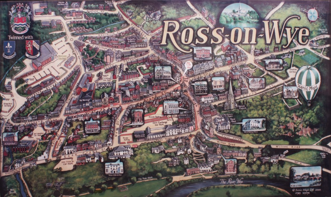 Ross On Wye Map Ross on Wye   Ross Town Map Ross On Wye Map