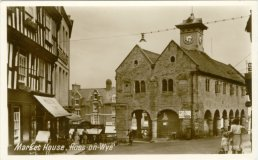 A postcard view of the Market House