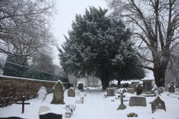 Snow in the Churchyard