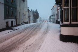 Snow at the top of Edde Cross Street
