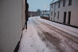 Snow down Greytree Road