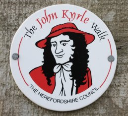 Signs for the John Kyrle Walk
